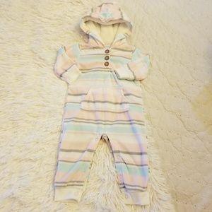 Carter's one piece fleece outfit